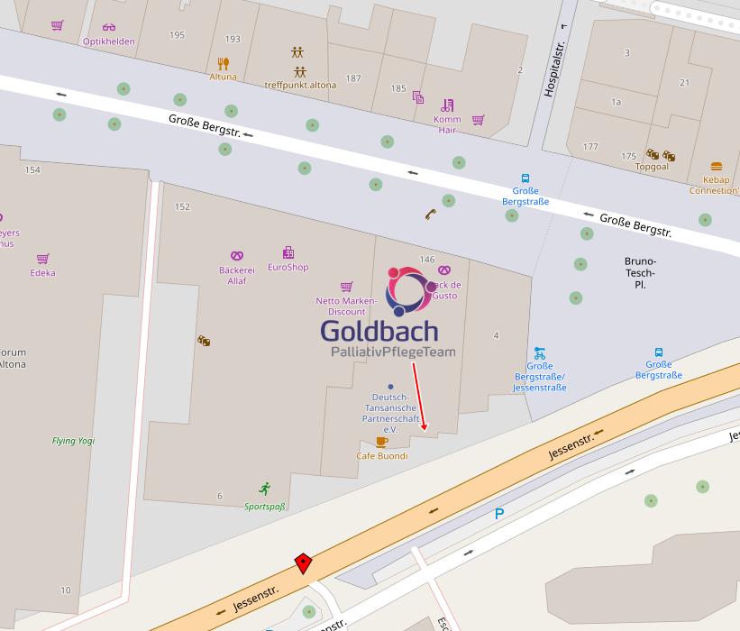Anfahrt Goldbach PalliativPflegeTeam